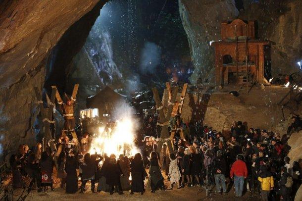 imagen del rodaje de 'las brujas de zugarramundi'