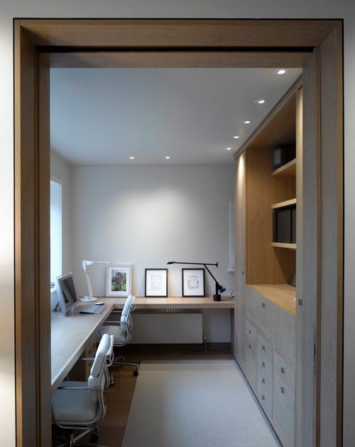 puedes colocar una gran lmpara central en la sala y otra que alumbre la mesa de trabajo si lo prefieres tambin puedes incluir pequeas