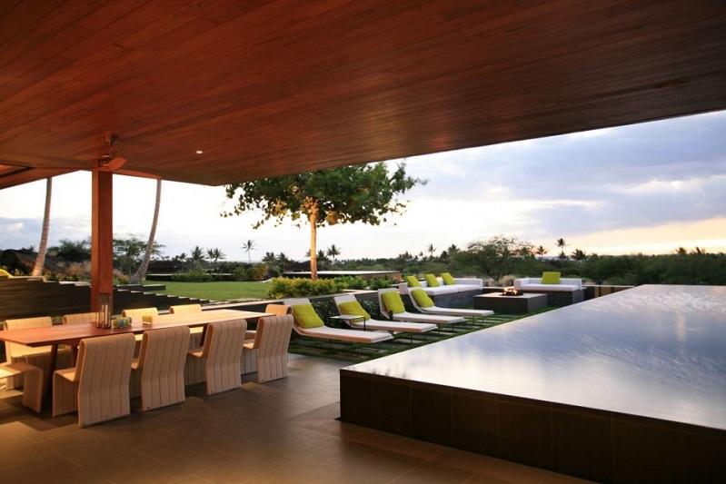 villa en hawai con zona de chill out