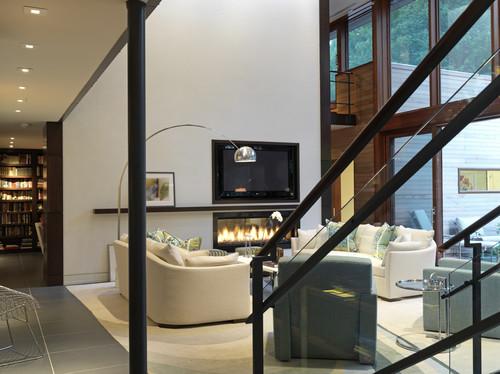 Foyer Electrique Modern Homes : Ideas de decoración formas combinar la televisión y