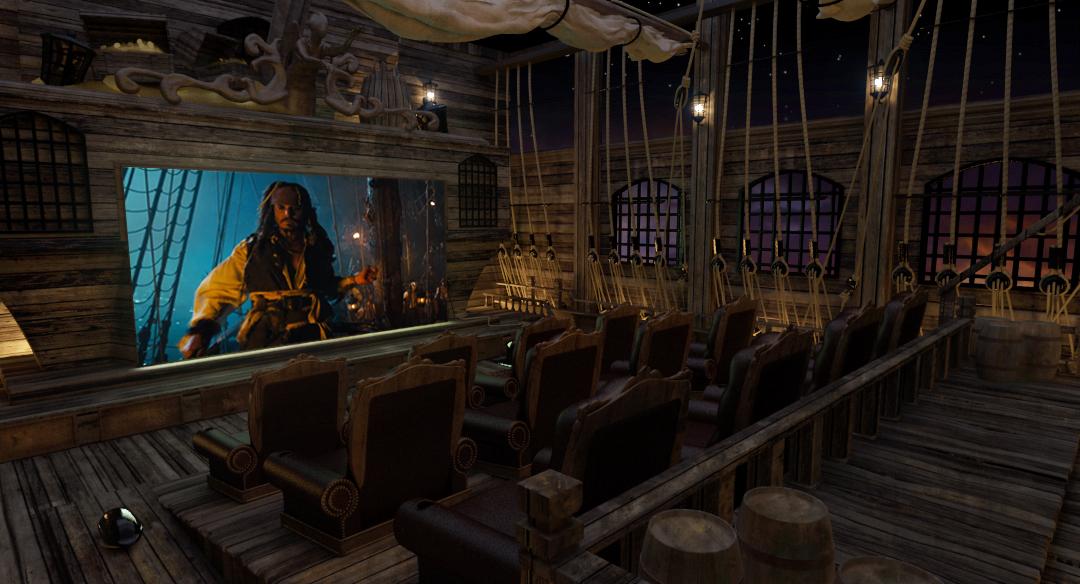 cine en casa a lo 'piratas del caribe'
