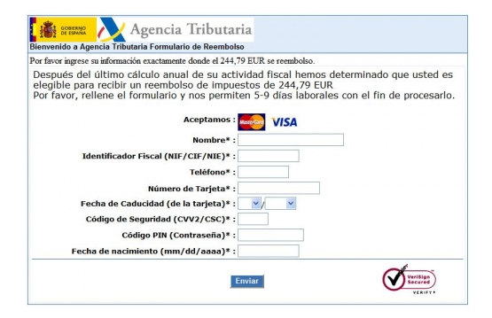 este es uno de los modelos de fraude electrónico (fuente: CNP)