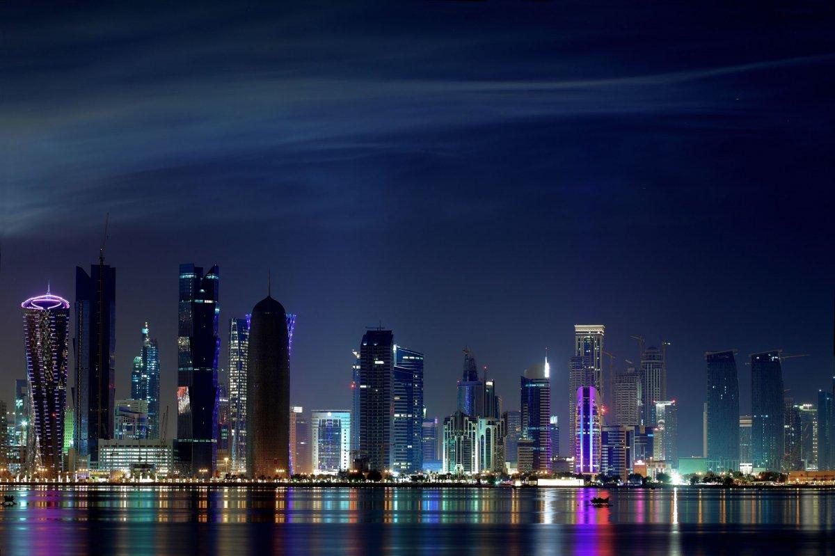 espectacular panorama de la bahía de doha (fotos:business insider)