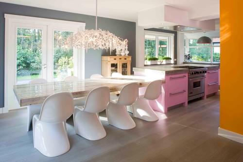 Ideas de decoracin 10 cocinas con toques de color de las que te