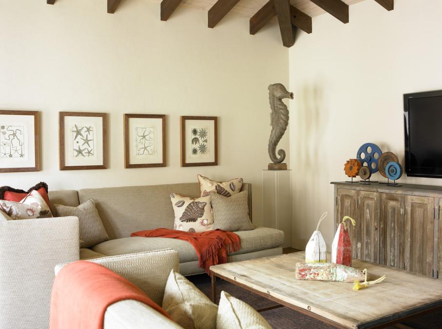 beach style family room by atlanta interior designers u decorators carter kay interiors