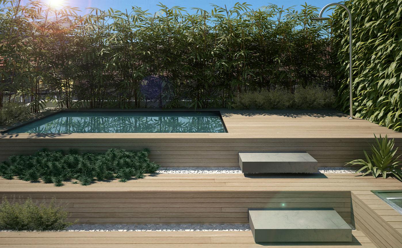 22 ideas para convertir una terraza sucia y vac a en un Piscinas sobreelevadas