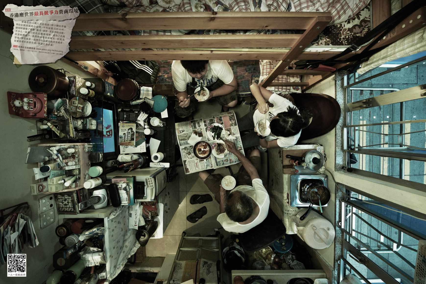 atrapados en as viven cientos de miles de personas en hong kong fotos