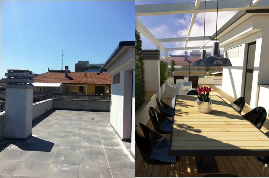 22 ideas para convertir una terraza sucia y vac a en un - Ideas para cerrar una terraza ...