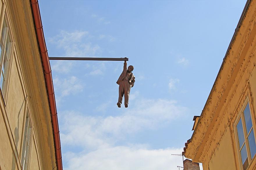 Hombre colgado (Praga, República Checa)