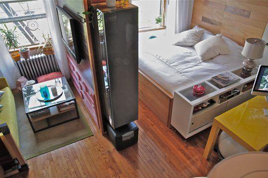 Ideas de decoraci n 12 maneras de ganar espacio en un for Cocinas para apartaestudios