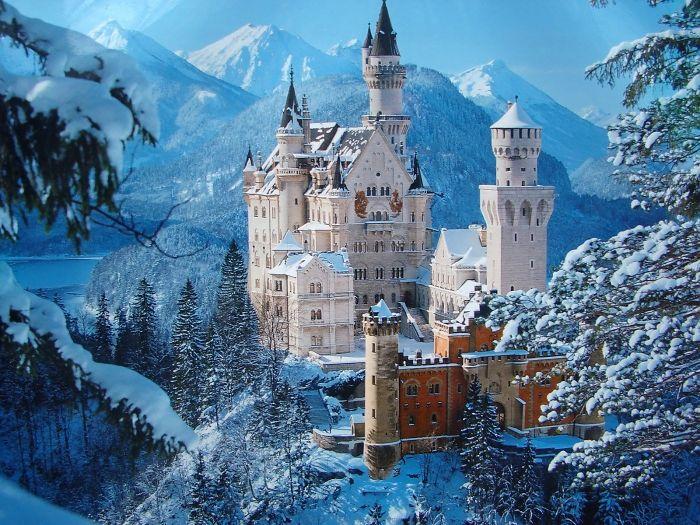 castillo de neuschwanstein, en alemania. fuente: bored panda