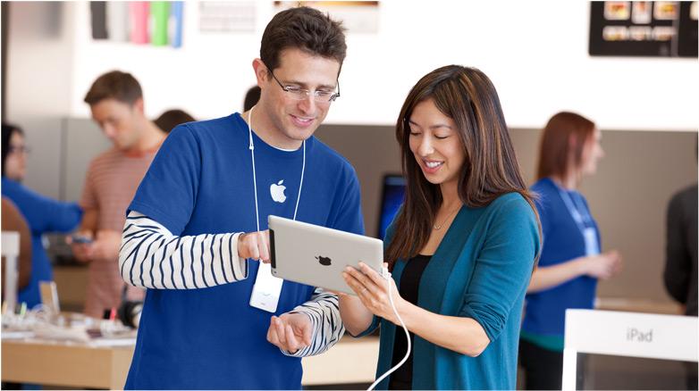 la mayor parte de los trabajadores de apple están vinculados a sus aplicaciones online (fuente: apple)
