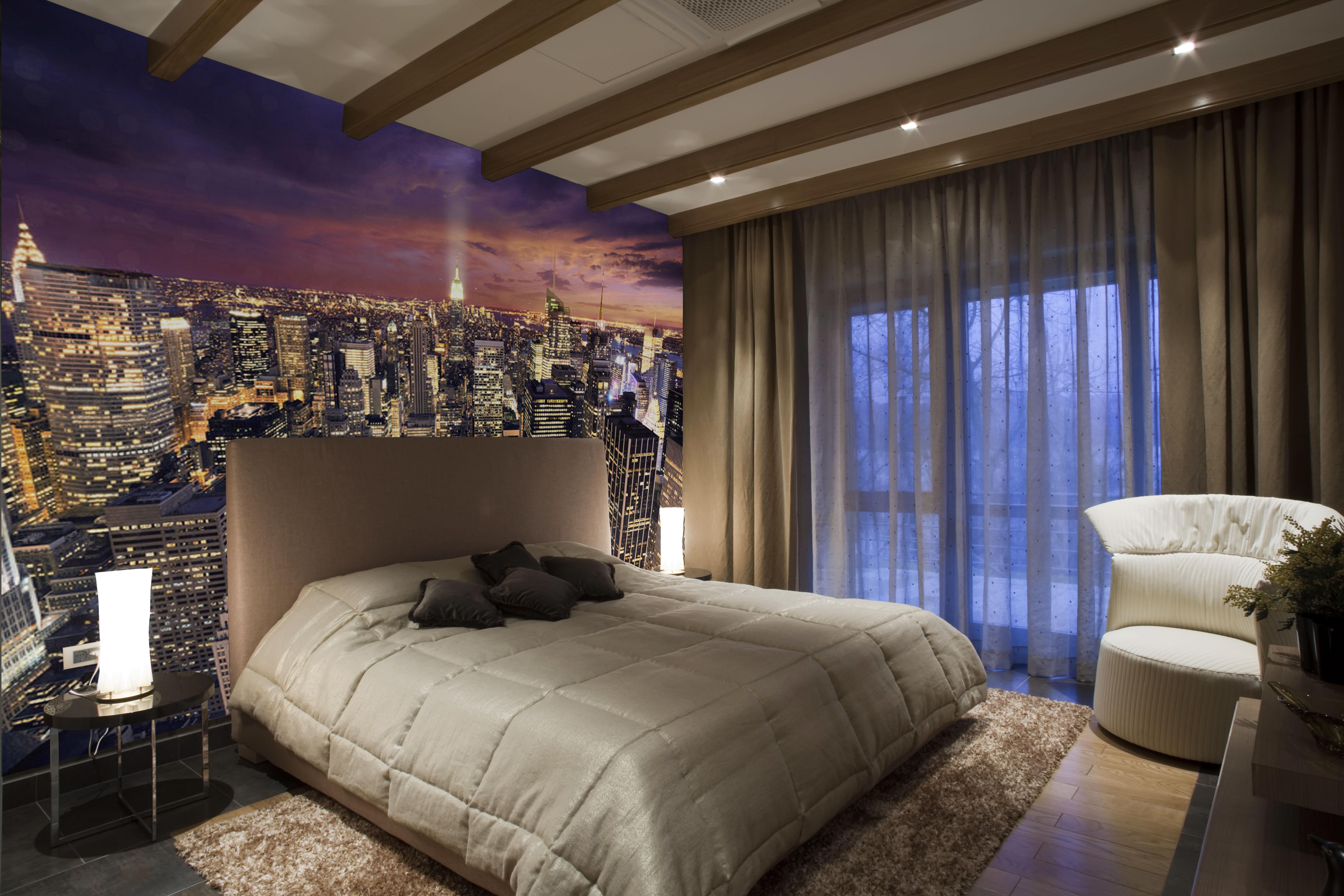 Ideas papel pintado dormitorio dormitorio con suelo de for Fotomurali leroy merlin