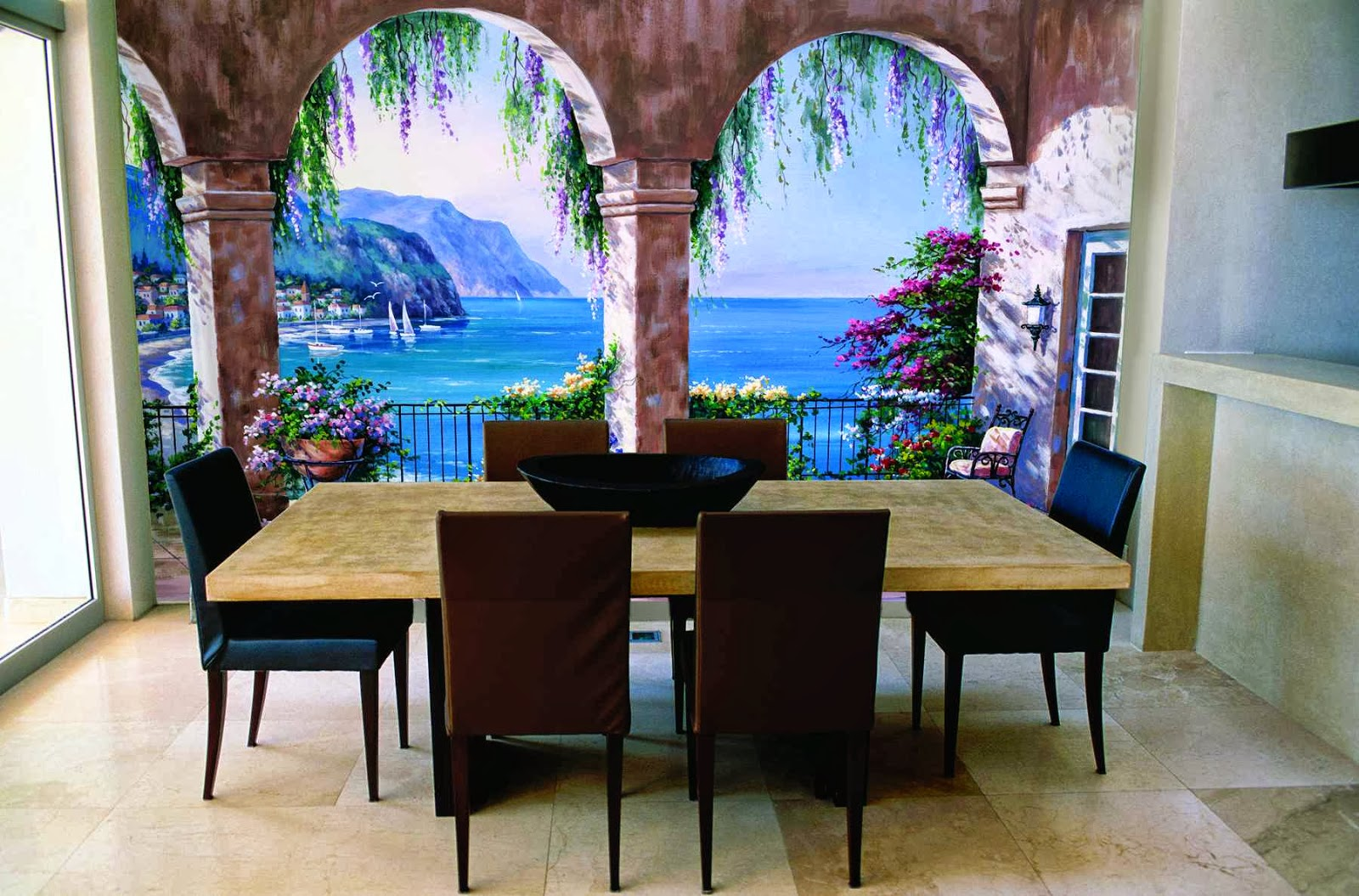 Ideas de decoraci n papel pintado y fotomurales con for Papel mural living comedor
