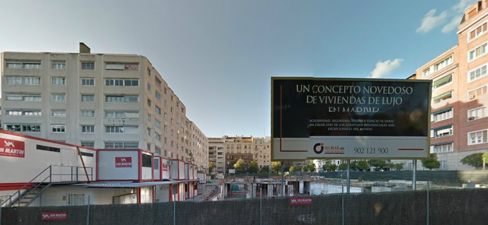 solar en el número 3 de Juan Bravo de Madrid (fuente: Google Streetview)