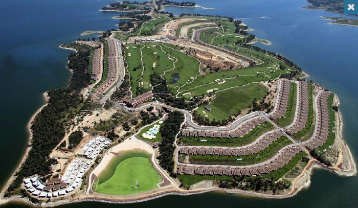 imagen aérea de la isla de valdecañas