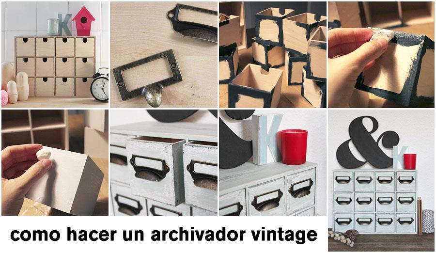 cómo hacer un archivador vintage