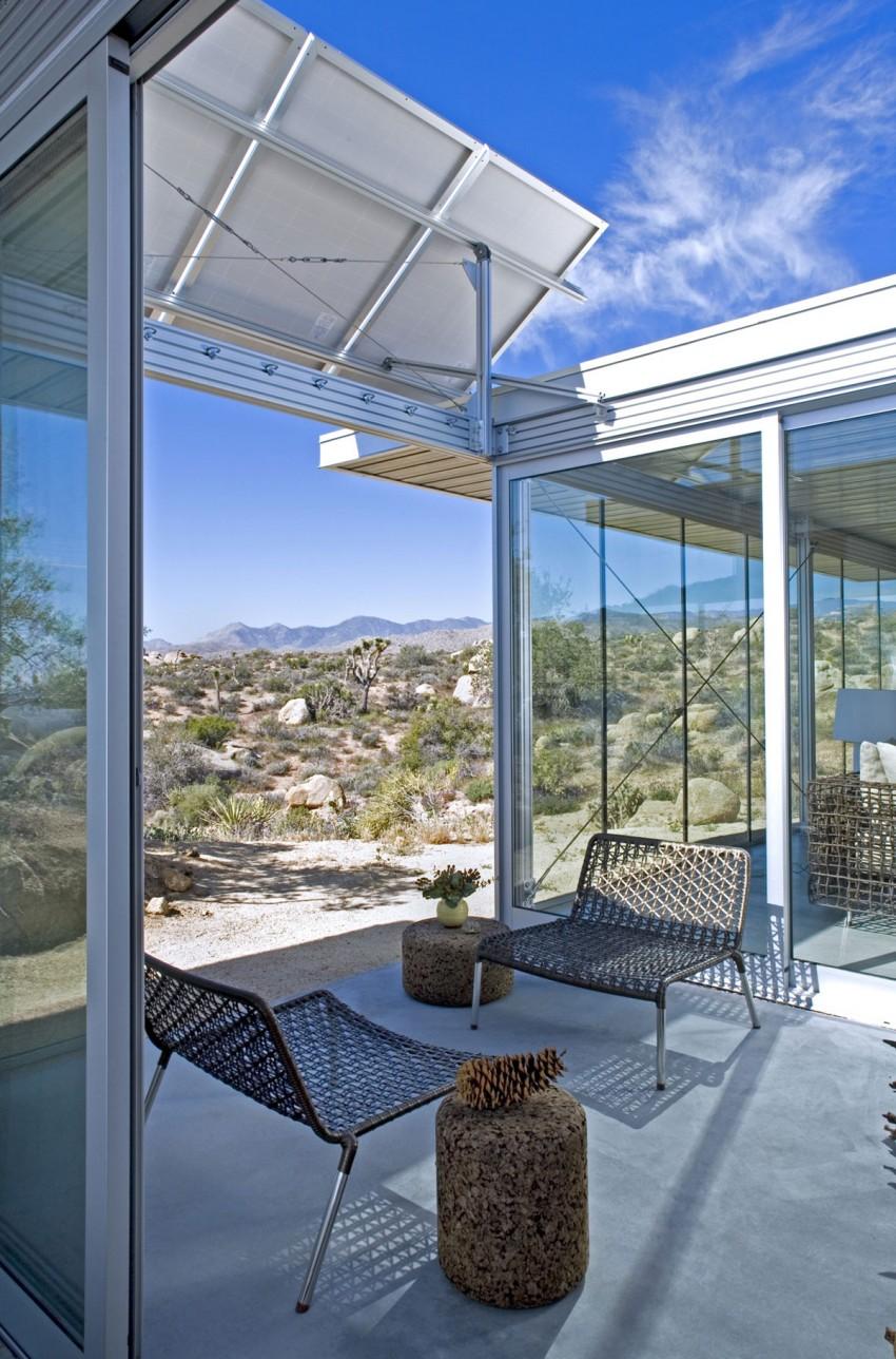 Casa de ensue o una villa eficiente con paredes de for Idealista puertas verdes