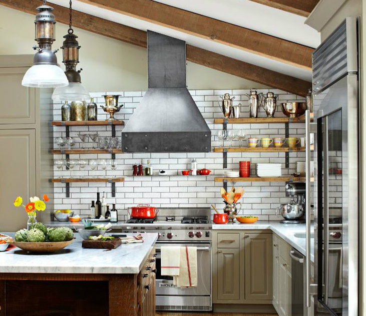 Decoracion en cocina y sala de ladrillo a l vista - Cocina de ladrillo ...