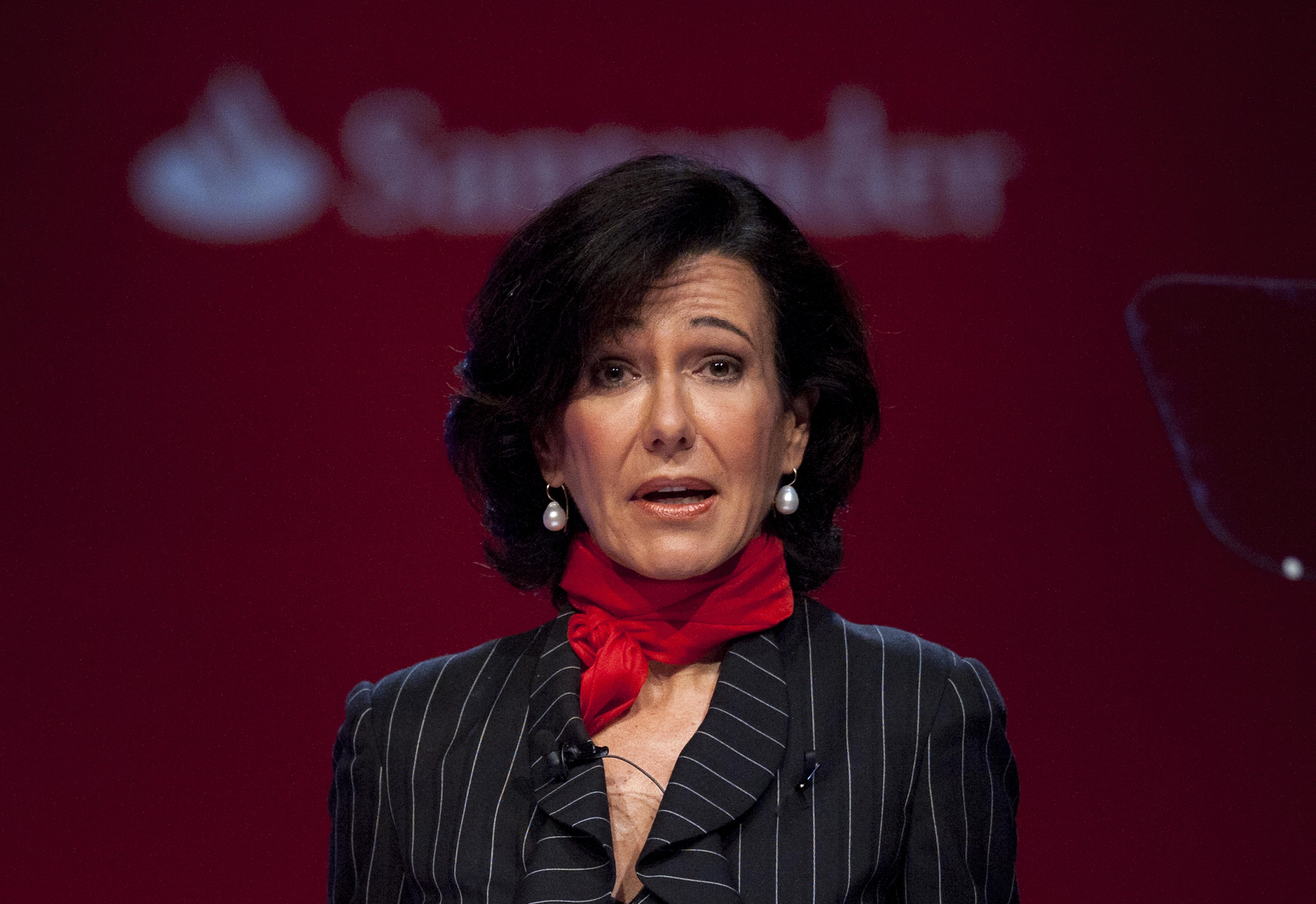 la presidenta de Banco Santander, Ana P. Botín