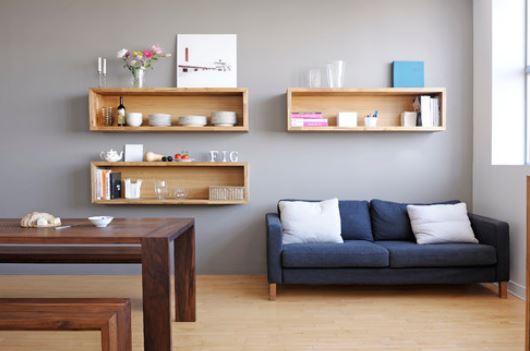 Estanterías de pared con las que decorar la casa y ganar espacio (fotos)