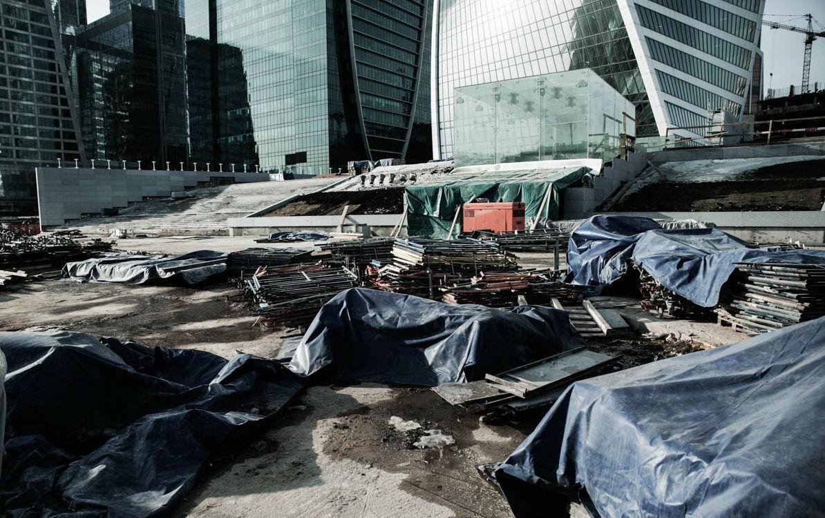 El distrito financiero que Moscú construyó para competir con Nueva York o Londres es hoy un barrio fantasma (fotos)