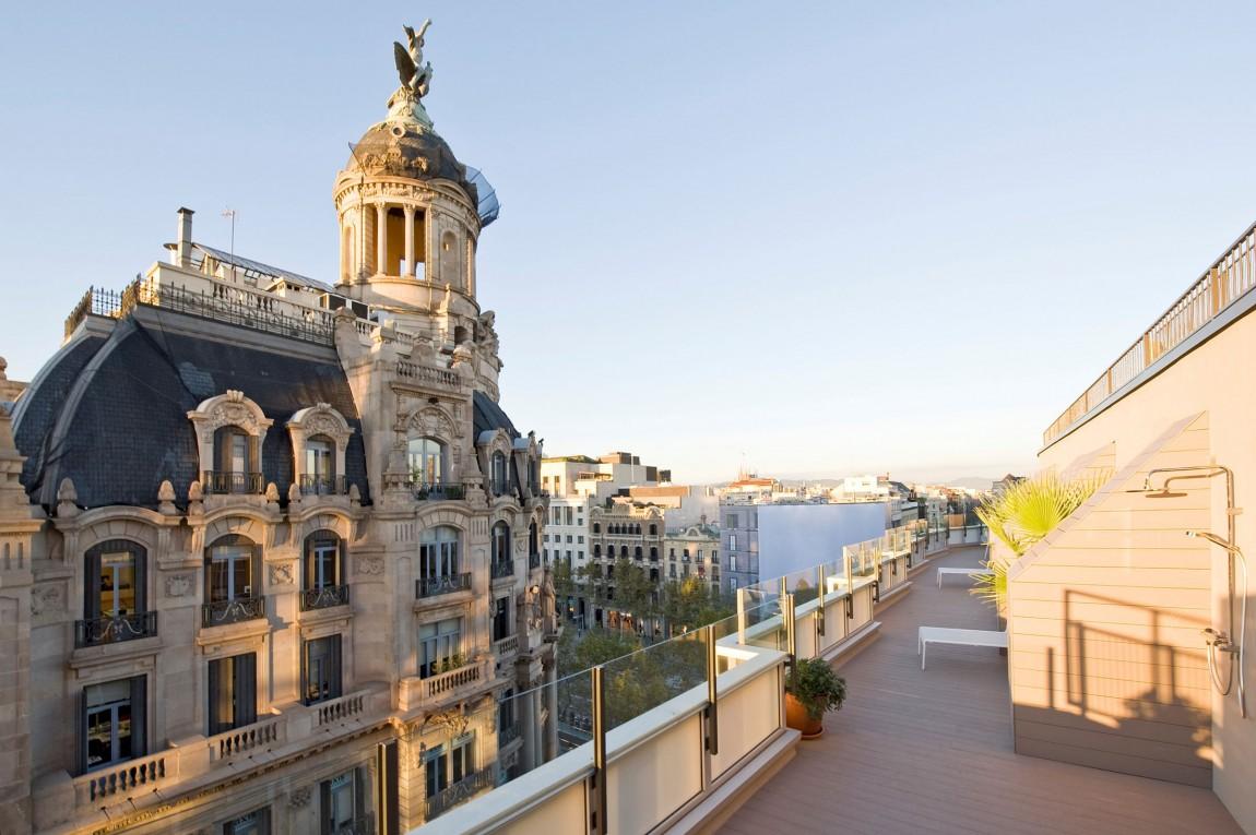 Maravillosas vistas de la ciudad y de la arquitectura barcelonesa
