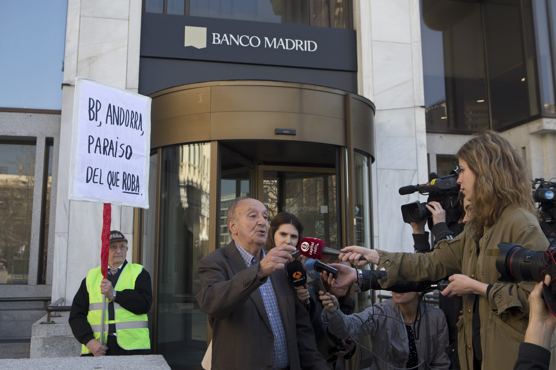 Afectados por banco Madrid