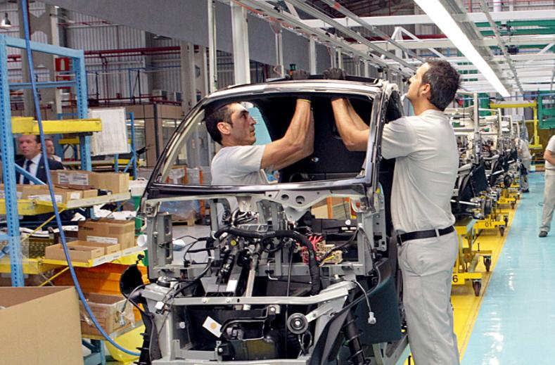 Imagen de una fábrica española de coches