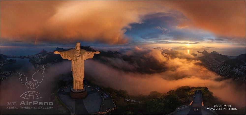 Cristo Redentor en Rio de Janeiro. Autor: AirPano