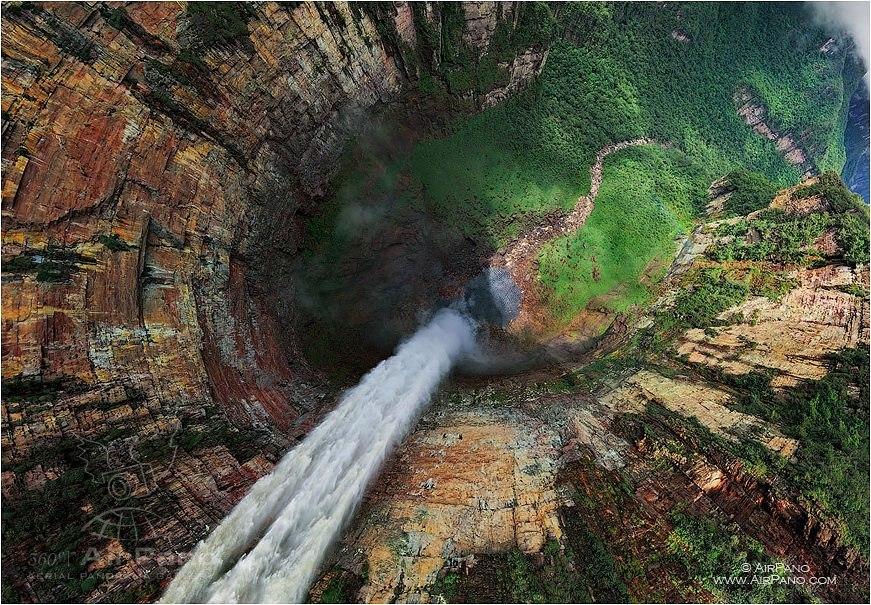 Cataratas Salto Ángel, Venezuela. Autor: AirPano