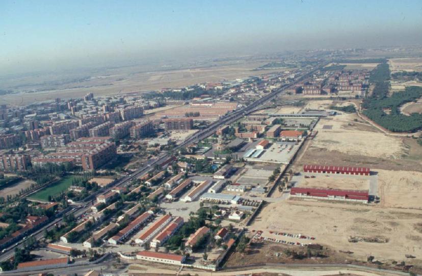 vista aérea de la Operación Campamento