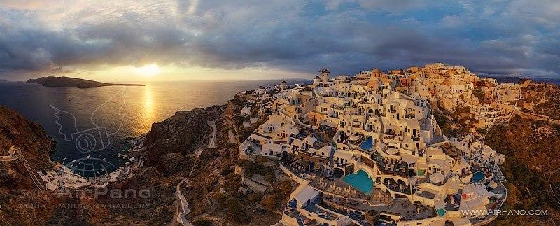 Santorini, Grecia. Autor: AirPano