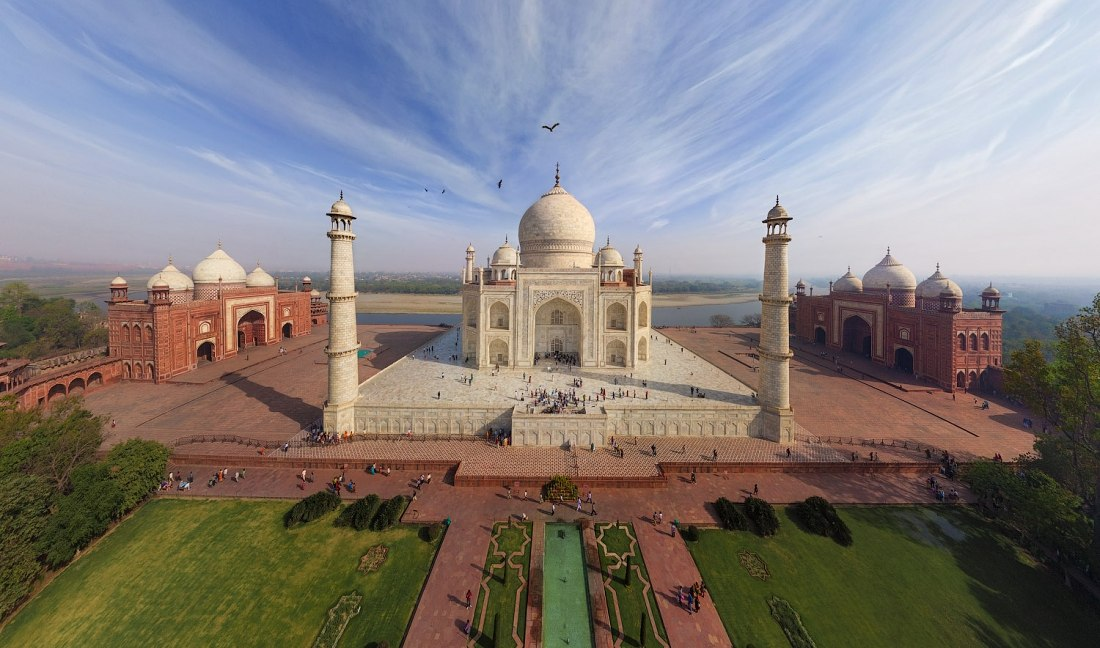 Taj Mahal, India. Autor: airPano