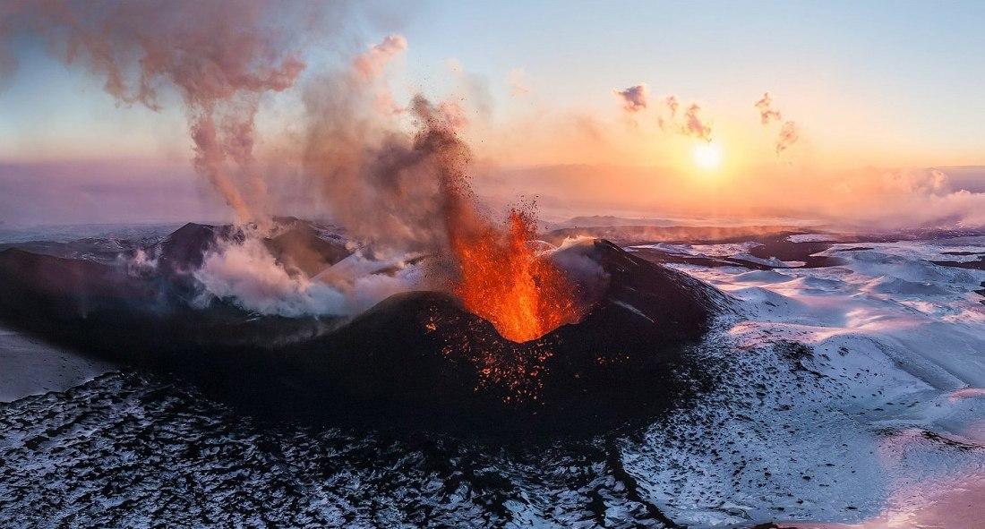 Volcán de Plosky Tolbachik, en Kamchatka. Autor: AirPano