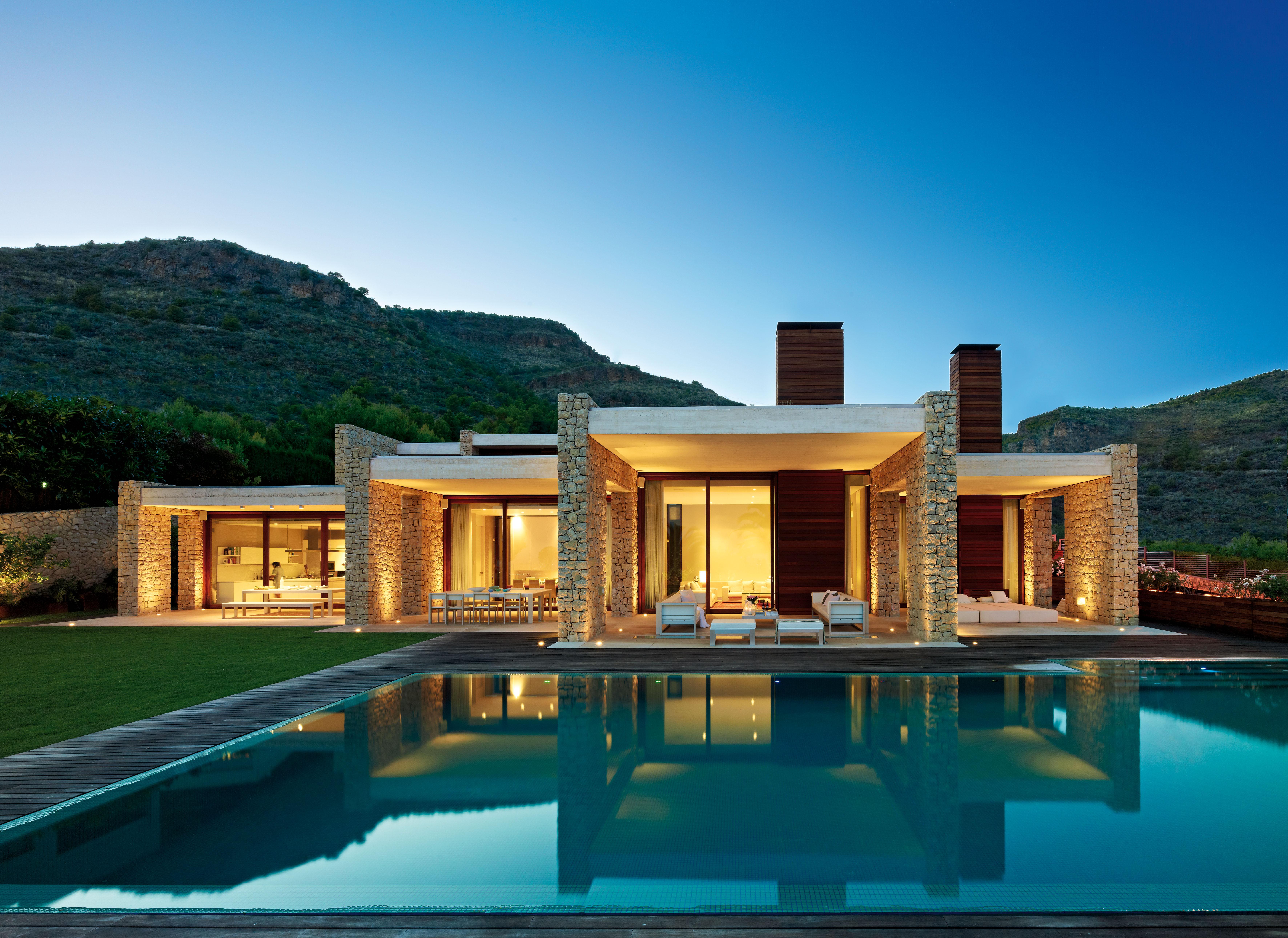 Casas de ensueño: una vivienda de diseño romano en el siglo XXI... y ...
