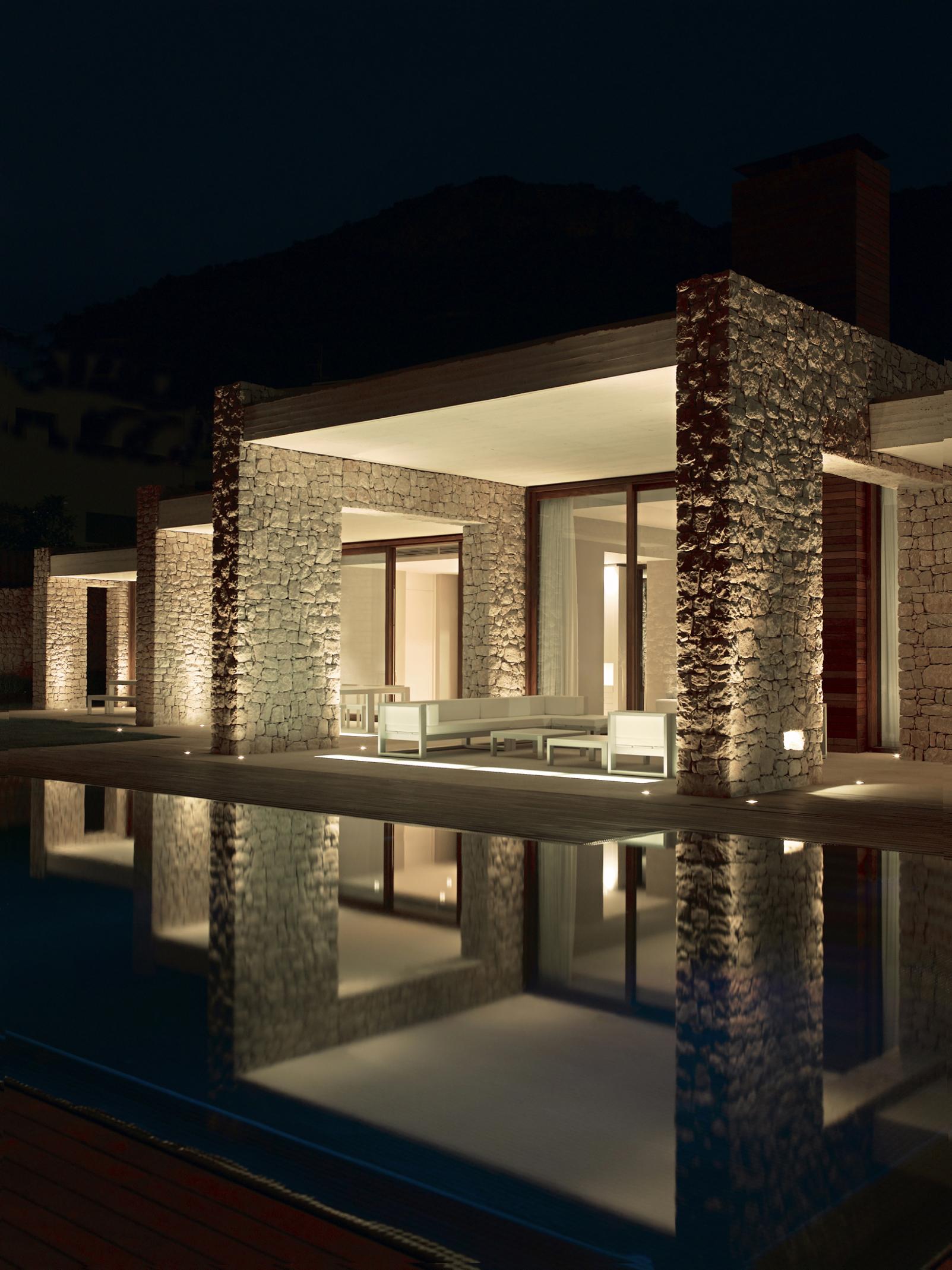 Casas de ensue o una vivienda de dise o romano en el Iluminacion decorativa para exteriores