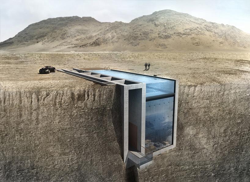 La 'Casa Brutale' o como vivir colgado de un acantilado y nadar sobre el vacío