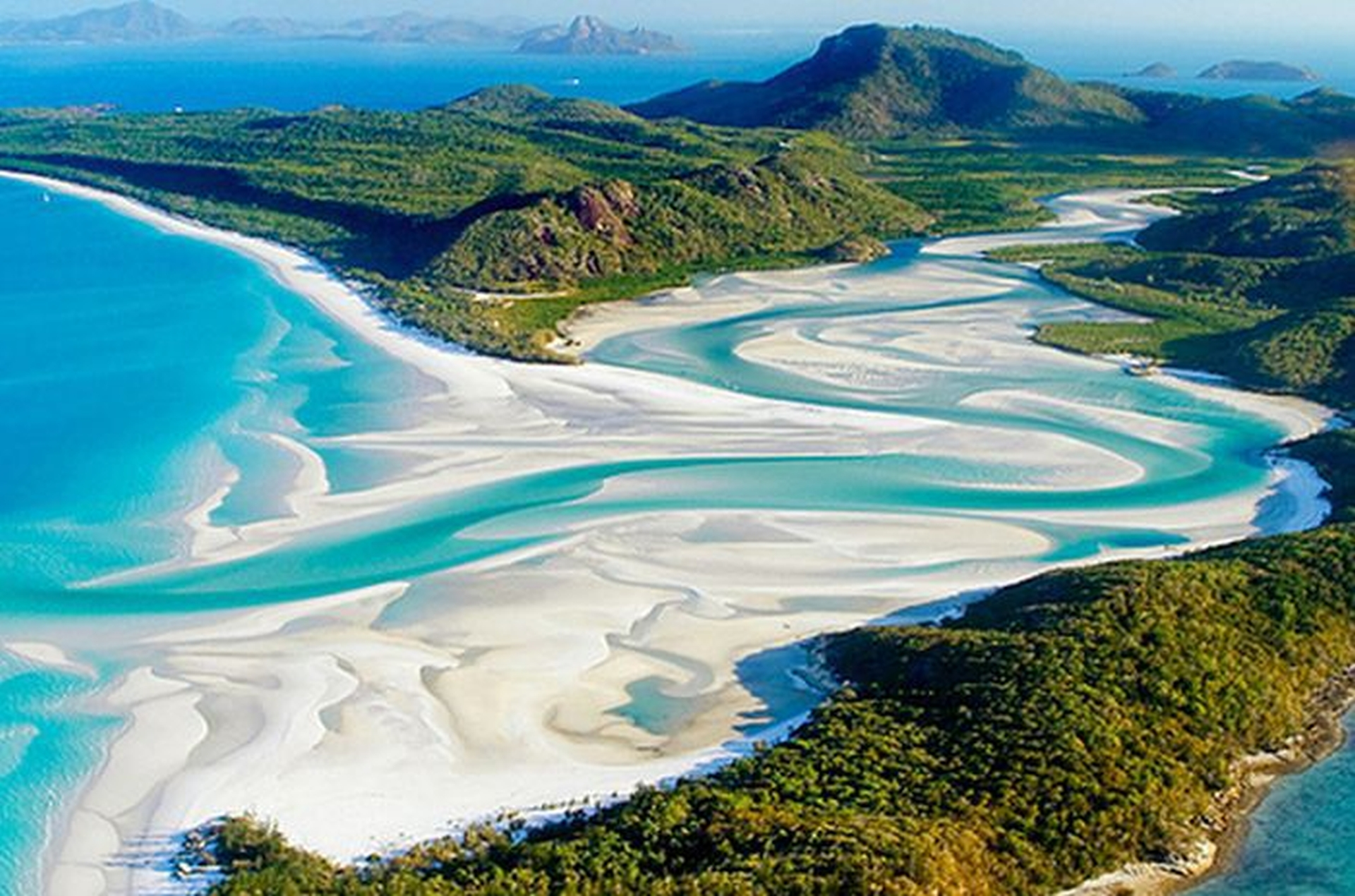 La playa Whitehaven (Isla de Whitsunday, Australia)