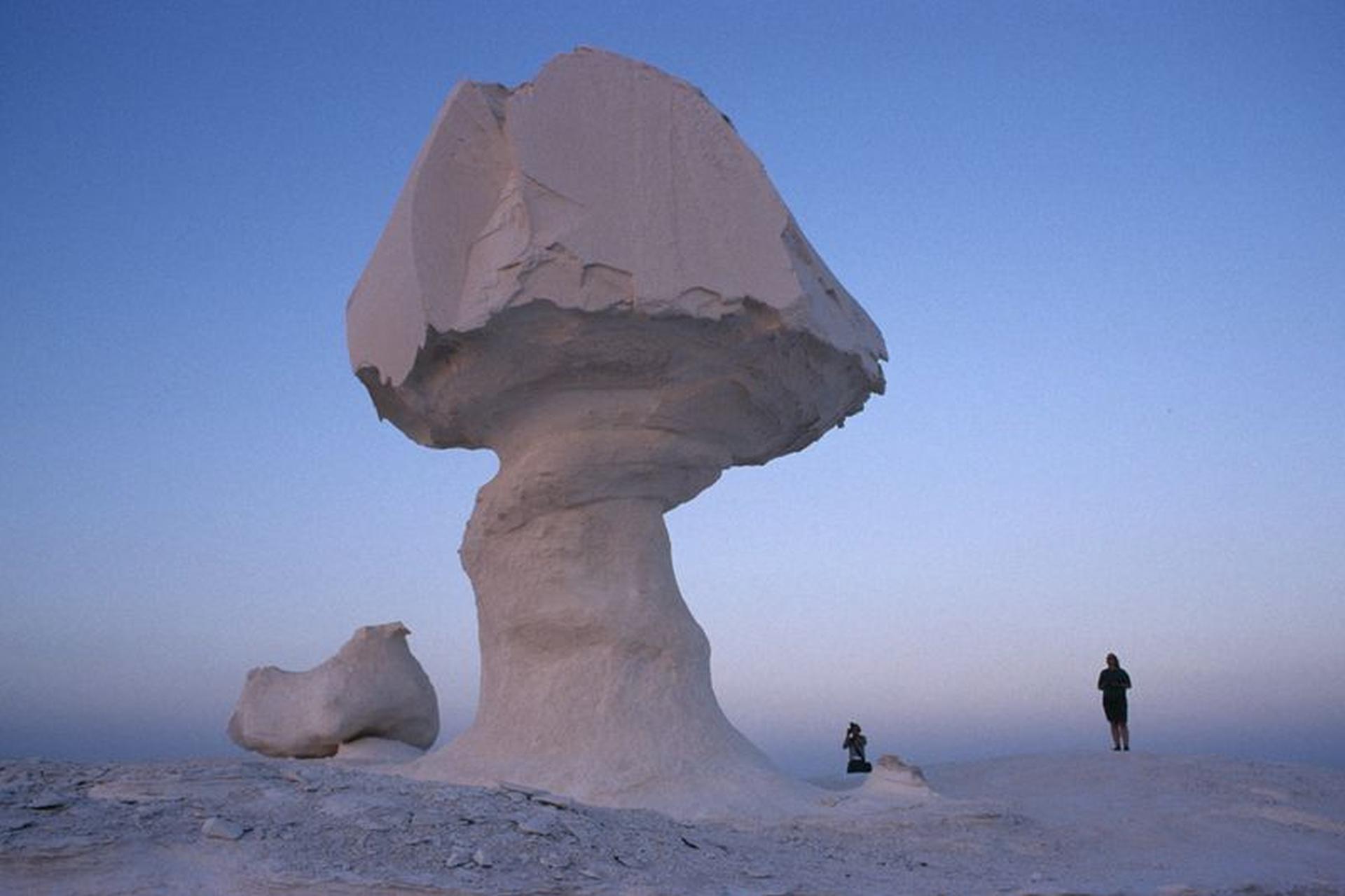 El desierto blanco o Sahara el Beyda (Egipto)