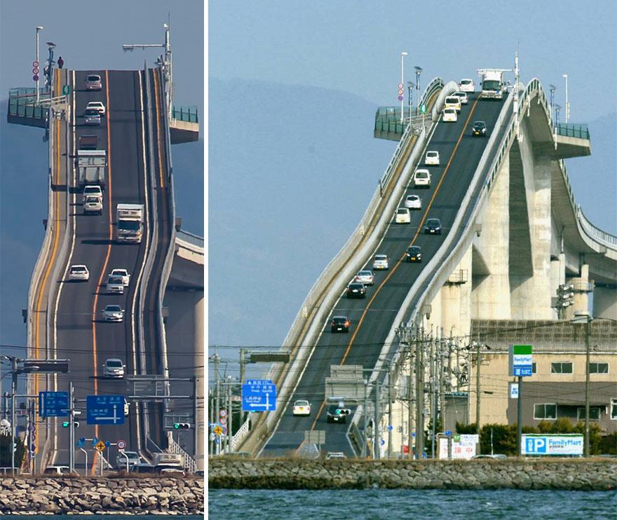El puente que parece una auténtica montaña rusa