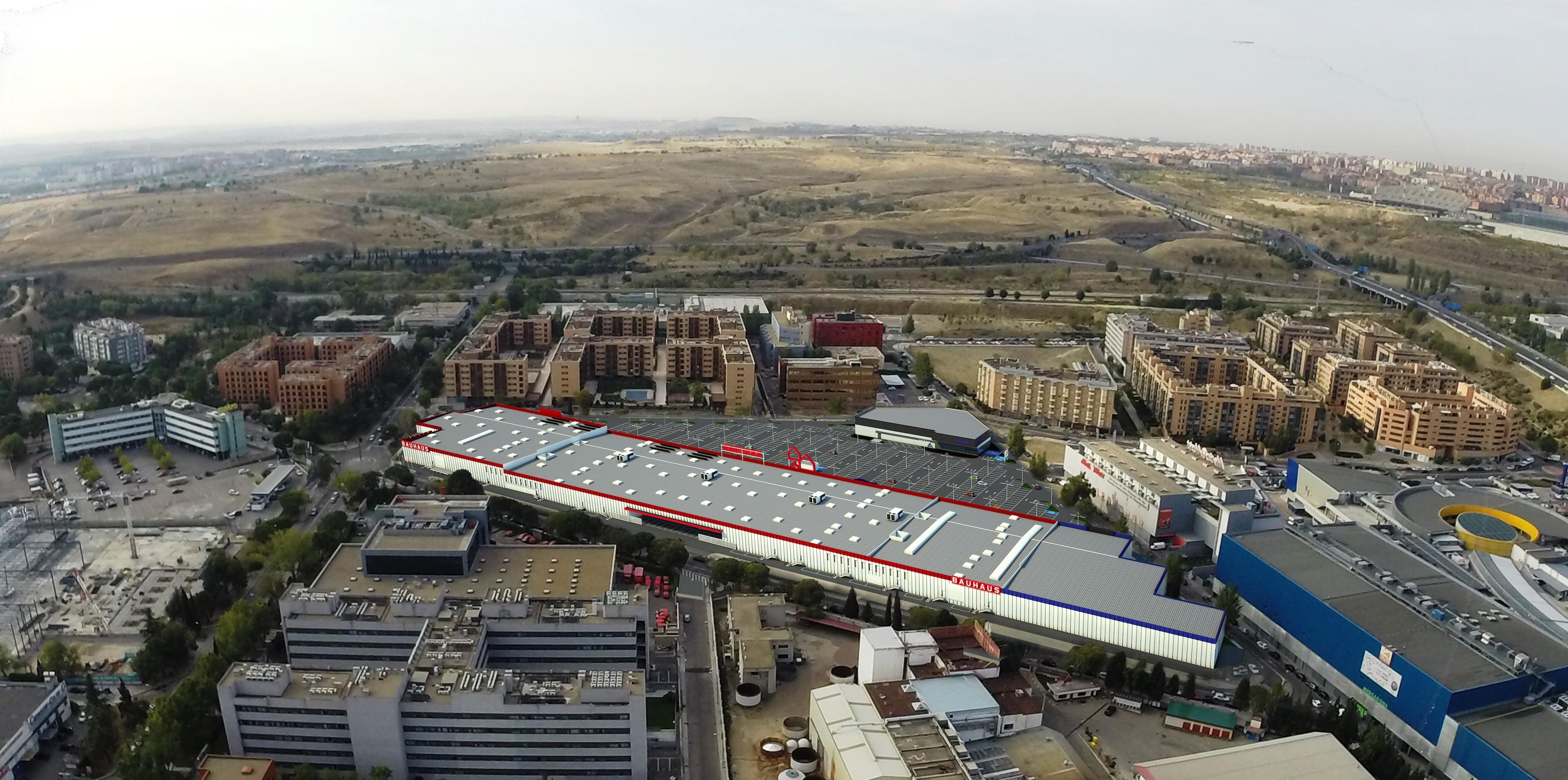 Axiare adquiere Mercedes Open Park, medianas comerciales en Madrid.
