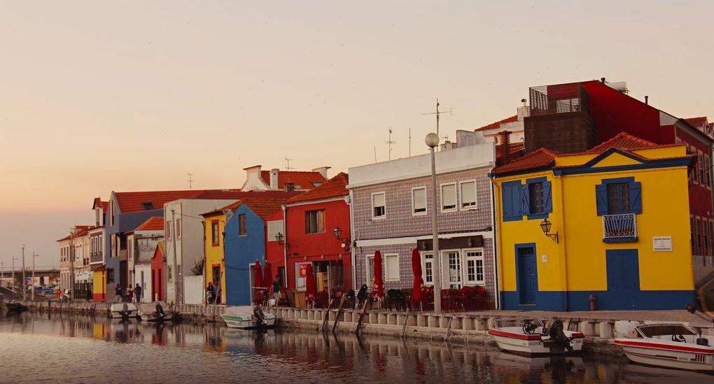La localidad de Aveiro en Portugal