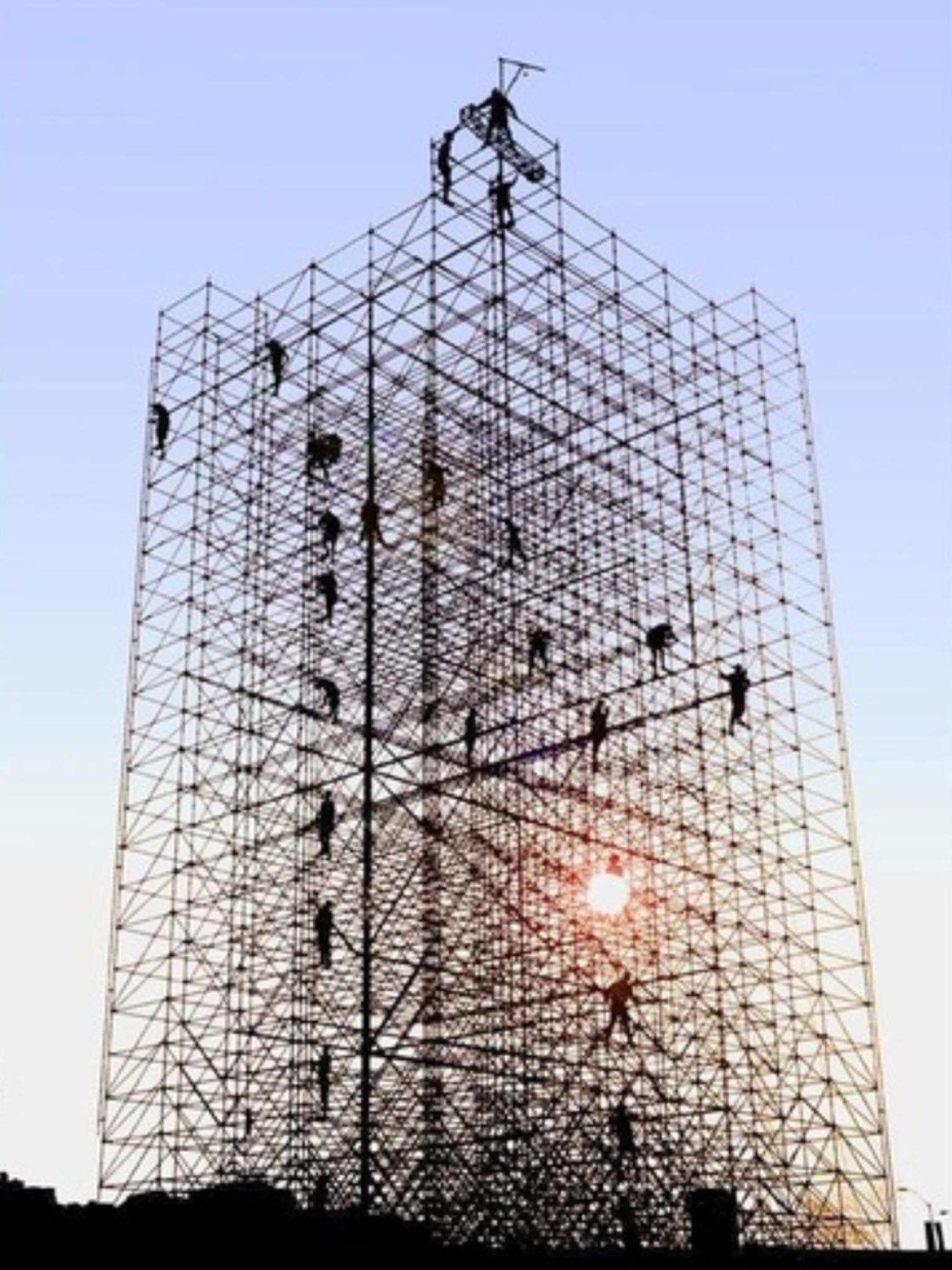 estructura de un edificio en construcción