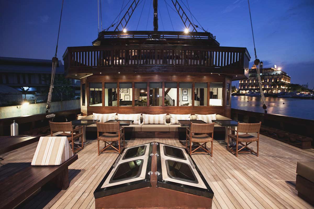 Detalle del barco - hotel