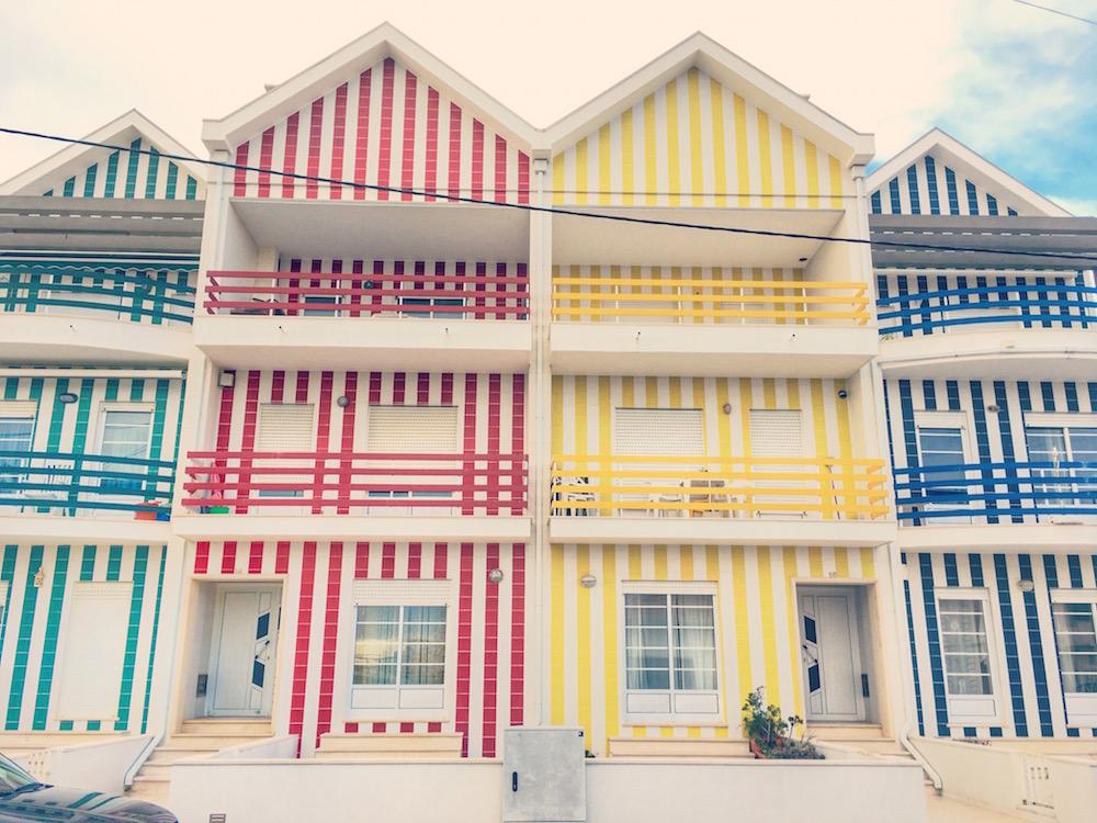 Las coloridas casas de Aveiro