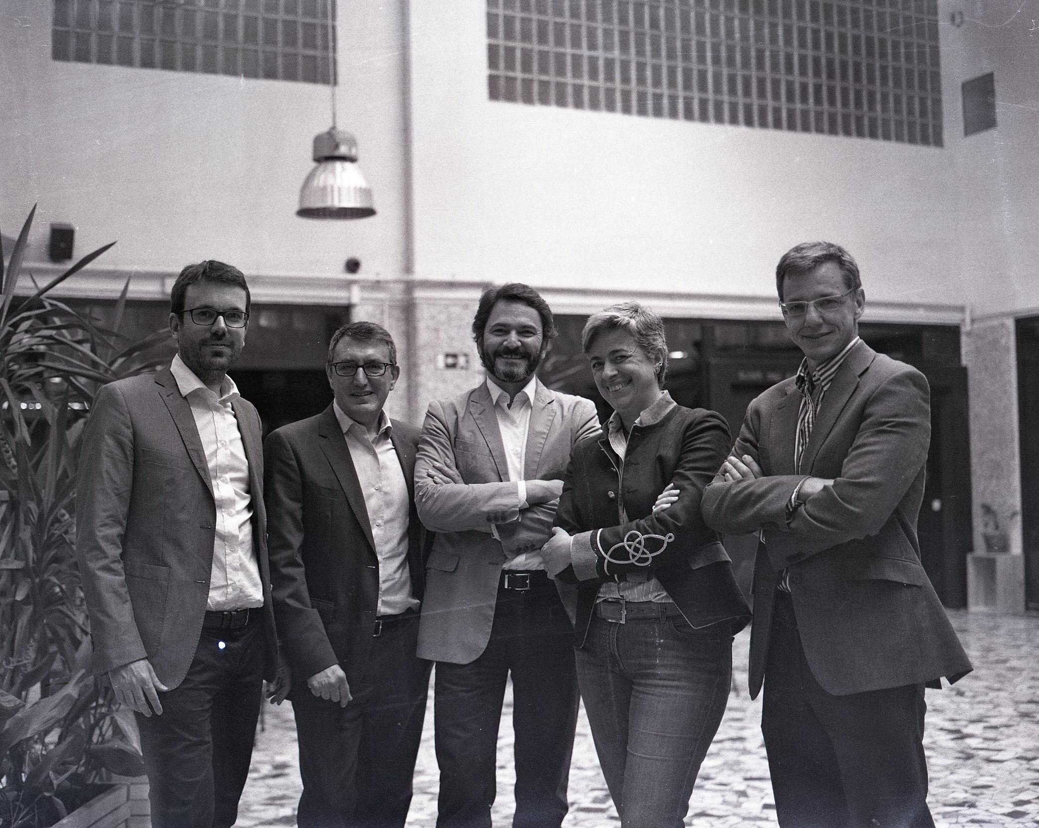 El equipo directivo de la Bolsa Social. En el centro, Jose Moncada, fundador de la plataforma