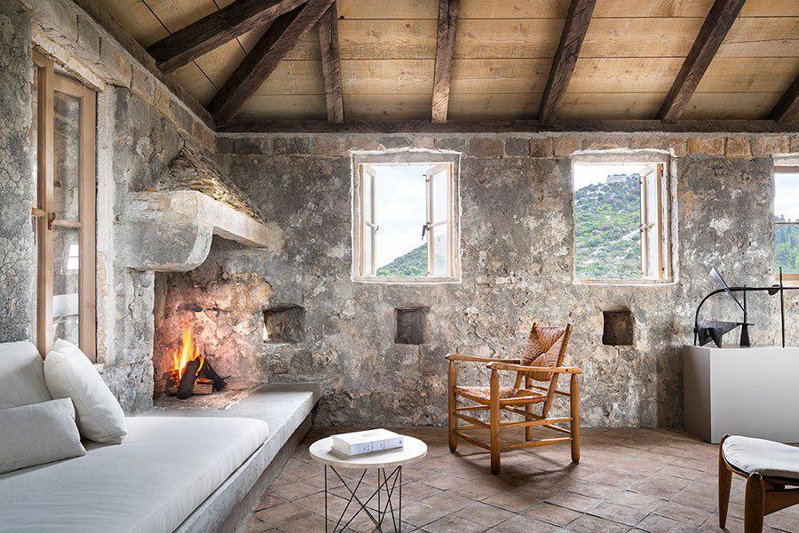 Piso decorado con muebles modernos