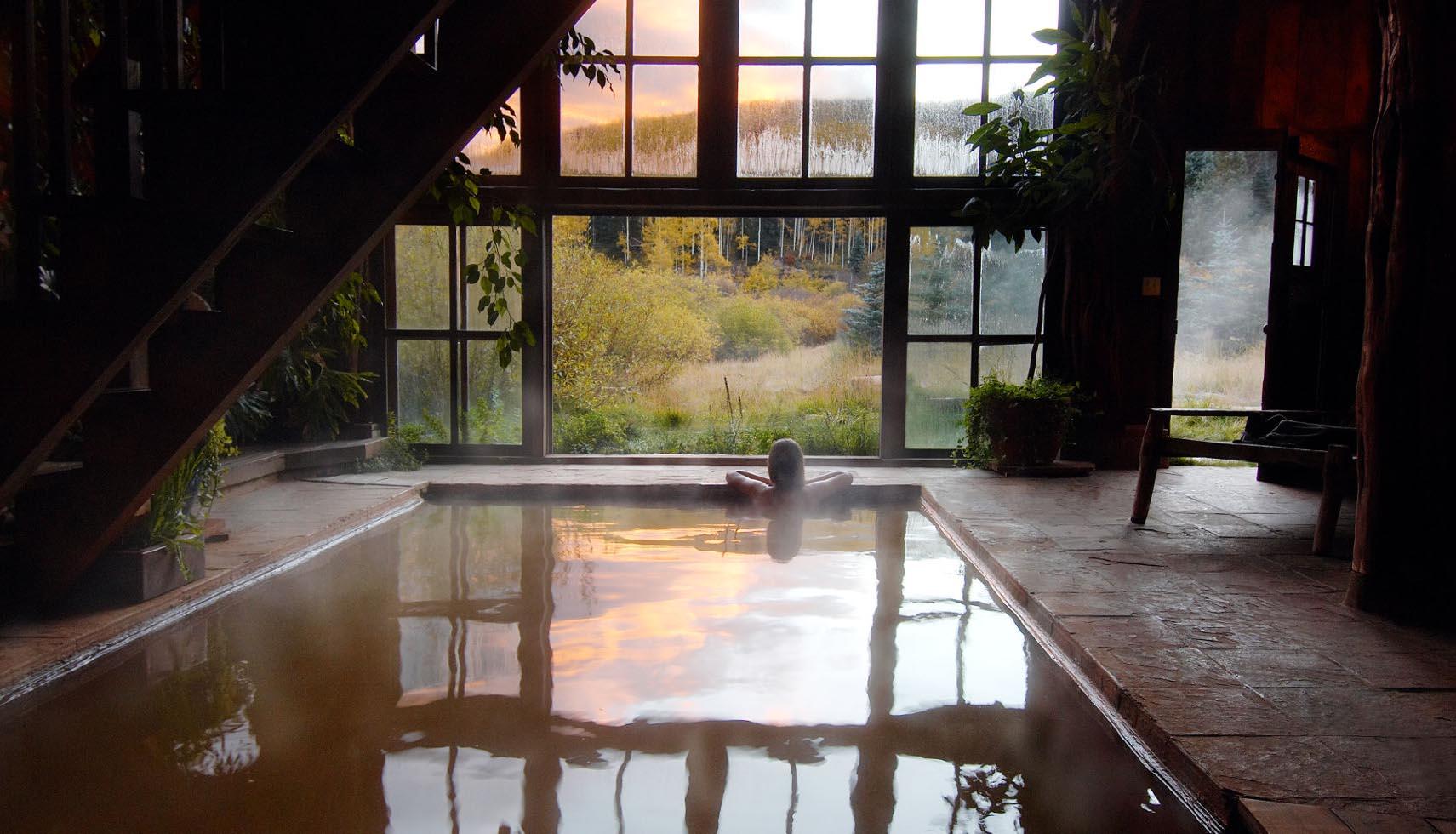 La espectacular piscina del hotel