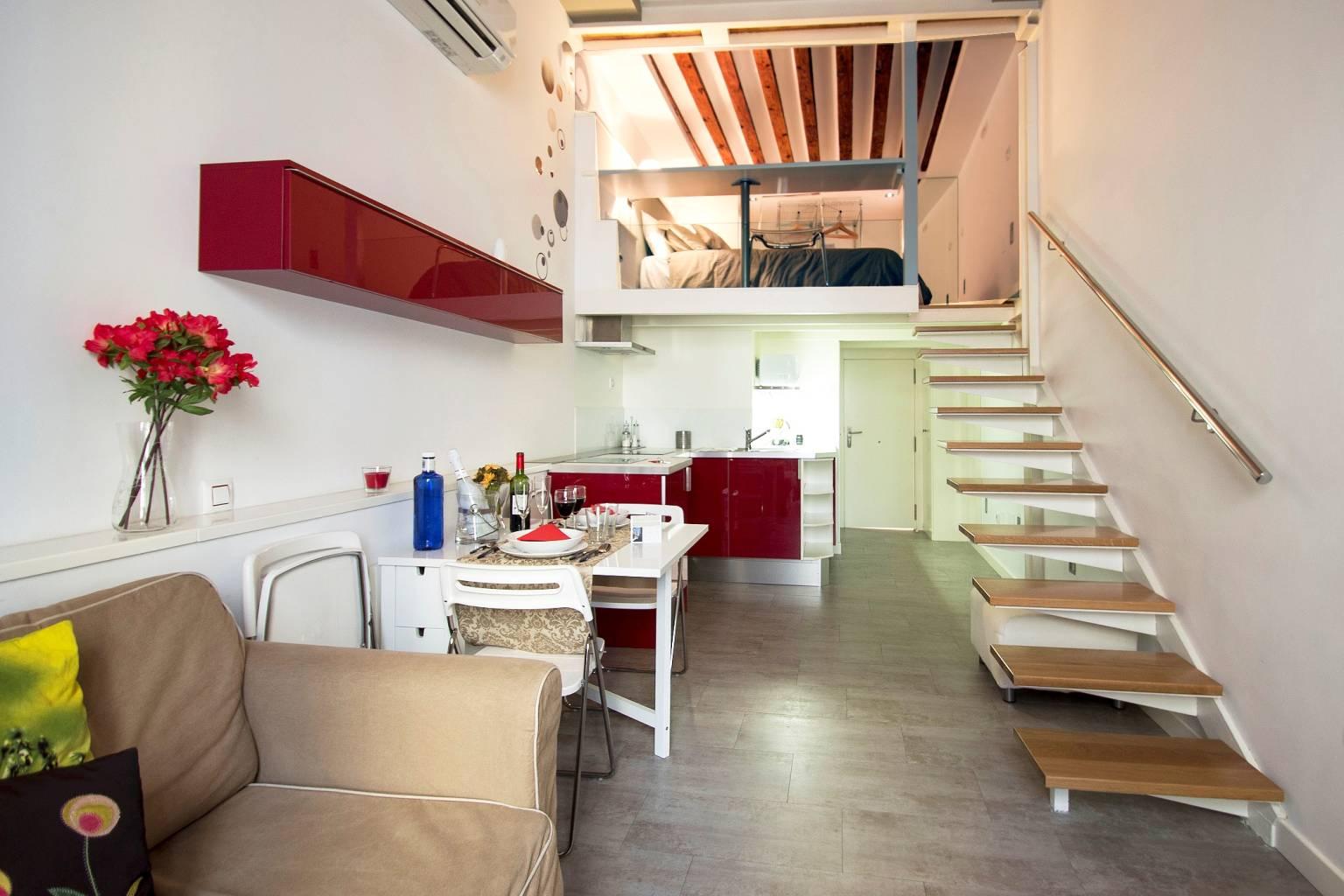 Apartamento en alquiler en el Barrio de las Letras de Madrid